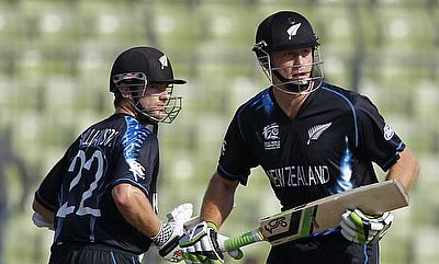 Kane Williamson (left) and Martin Guptill (right) added 159 runs for the second wicket in the third ODI against Pakistan.