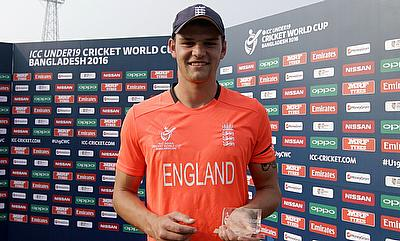 Jack Burnham awarded man of the match for his unbeaten century against Zimbabwe.