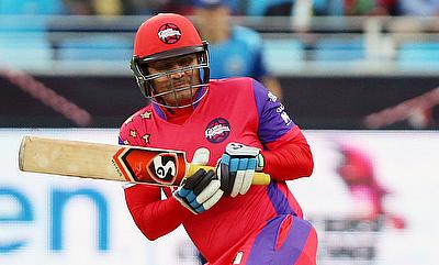 Virender Sehwag scored a 27-ball 59 runs for the Gemini Arabians.
