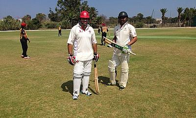 Nowell Khosla and Zubair Raja in recent action at the Marsa Oval