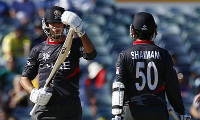 All-round show from Rohan Mustafa gives UAE victory over Afghanistan
