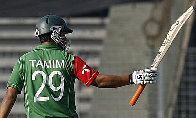 Tamim Iqbal century propels Bangladesh into Super 10
