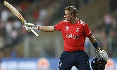 Joe Root walks off after a 44-ball 83.