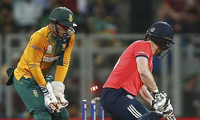Eoin Morgan (right) was confident of England's chances despite another poor outing with the bat.