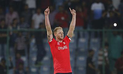 Ben Stokes conceded just four runs in the last over while defending just 15 runs.