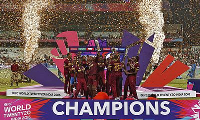 West Indies celebrate winning the ICC World T20 2016