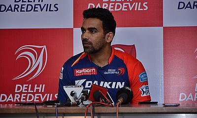 Zaheer Khan in a press conference organised by the Delhi Daredevils.