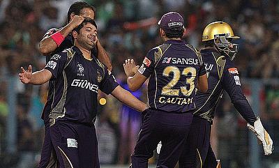 Piyush Chawla (left) picked two wickets and conceded just 21 runs in the four overs.