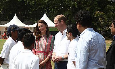 The Duke & Duchess of Cambridge at the Oval Maidan, Mumbai