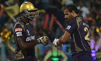 Both Andre Russell (left) and Yusuf Pathan (right) played vital knocks in the chase.