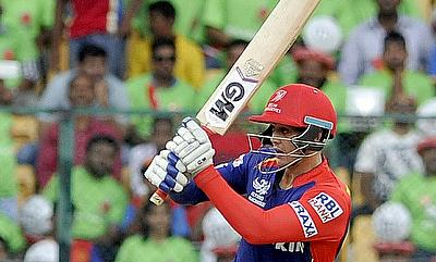 Quinton de Kock top-scored for Delhi Daredevils with 44.