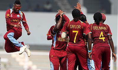 West Indies Women celebrate a wicket