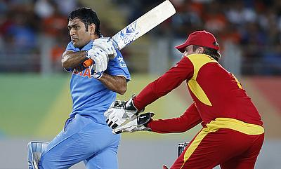MS Dhoni (left) will lead the side in Zimbabwe