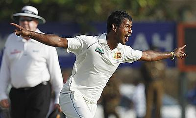 Nuwan Kulasekara (right) has 48 wickets from 21 Tests at an average of 37.37.