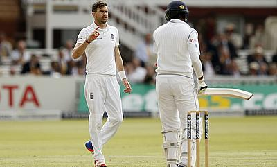 James Anderson (left) accepted the charges handed over to him by the match referee.