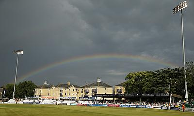 A rainbow over Essex's Chelmsford ground