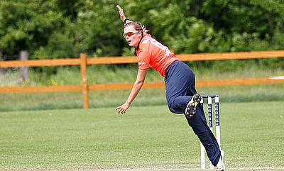 Alex Hartley in action for England Women's Academy.