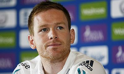 Eoin Morgan at the pre-series press conference