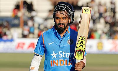 Lokesh Rahul remained unbeaten on 47 in the chase.