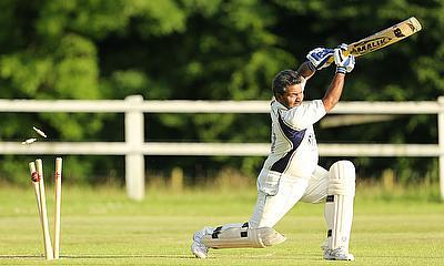 Abas Rizvi bowled at Bowdon Vale