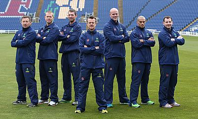 Toby Radford (centre) has worked with West Indies and Glamorgan teams