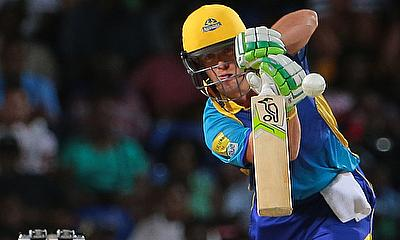 AB de Villiers in action for the Barbados Tridents.