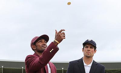 Denesh Ramdin (left) has scored 2898 runs from 74 Tests.