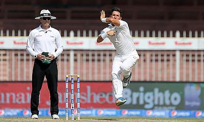 Yasir Shah in action