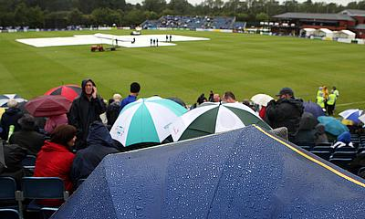 Incessant rain ensures washout in Belfast