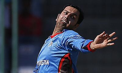 Mohammad Nabi picked up three wickets for Afghanistan.