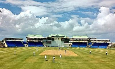 Action from day one of the tour game in St Kitts.