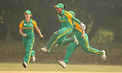 Trisha Chetty (front) is one of the most experienced players on the tour to Ireland
