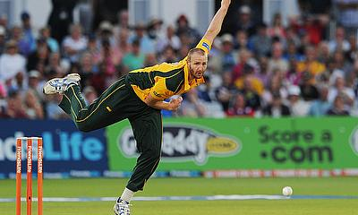 Andy Carter, seen here in action for Nottinghamshire, has left Derbyshire by mutual consent
