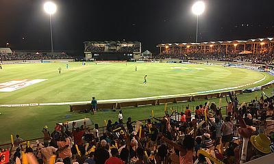 Our view from the Darren Sammy International Stadium