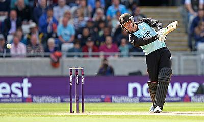 Jason Roy hit a brilliant century for Surrey - but it wasn't quite enough to get them out of the group stage