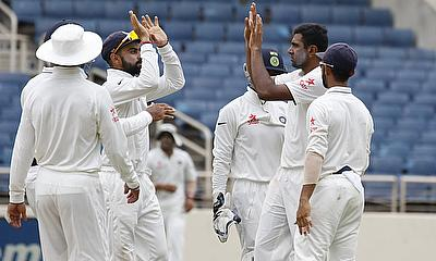 Ravichandran Ashwin picked another five-wicket haul for India.