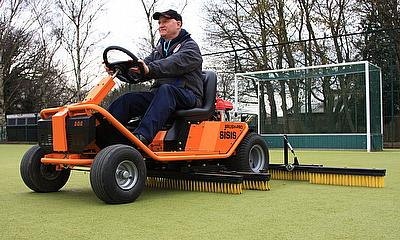 The SISIS Brush-Pro has become an invaluable tool helping the team keep the three hockey pitches in excellent condition