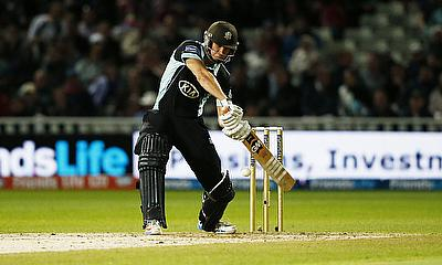 Zafar Ansari hit the winning runs to put Surrey into the quarter-finals
