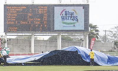 Only 95 deliveries were bowled on day four of the second Test at Sabina Park.