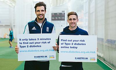 England's Steven Finn and Chris Woakes