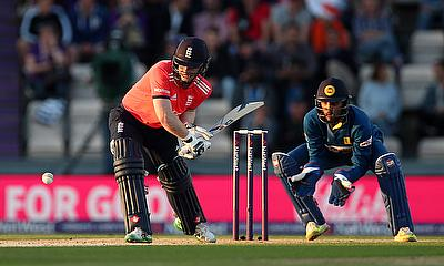 Eoin Morgan in action for England against Sri Lanka