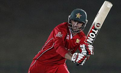 Craig Ervine scored an unbeaten 115 for Zimbabwe on day three.