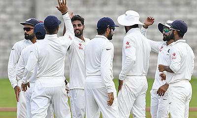 Bhuvneshwar Kumar's five-wicket haul puts India into dominant position