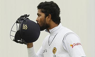 Dinesh Chandimal remained unbeaten on 64.