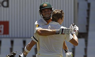 Both Shaun Marsh and Steven Smith scored unbeaten half-centuries for Australia