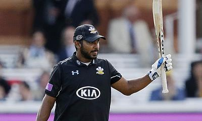 Kumar Sangakkara scored a brilliant century to guide Surrey to victory