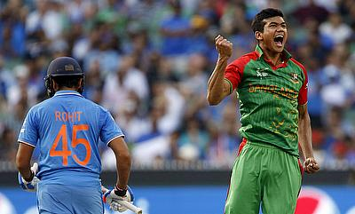 Taskin Ahmed (right) was suspended during the 2016 World T20 in India