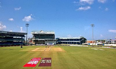 The bright scene in Trinidad, where only one session of play was possible all match