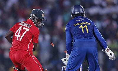 Action from Sri Lanka v Zimbabwe in the 2012 T20 World Cup