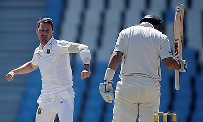 Dale Steyn (left) picked another five-wicket haul.